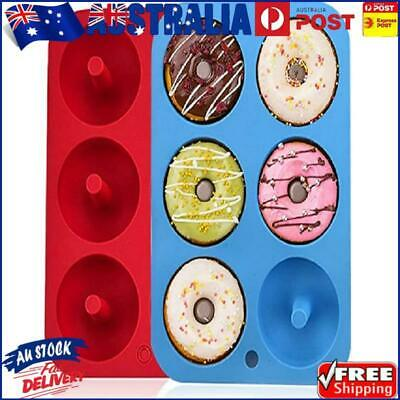 AU9.69 • Buy Silicone Donut Maker Molds, 6 Cavity Non-Stick Silicone Baking Tray Mould