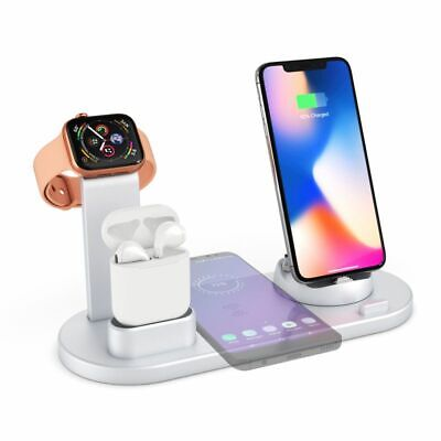 AU23.99 • Buy 4 In1 Wireless Charger Fast Charging Dock Station For IPhone Apple Watch Airpod