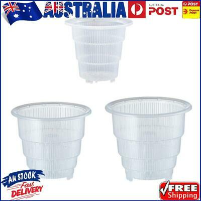 AU8.36 • Buy Resin Root Control Orchid Flower Mesh Pot Transparent Breathable Container