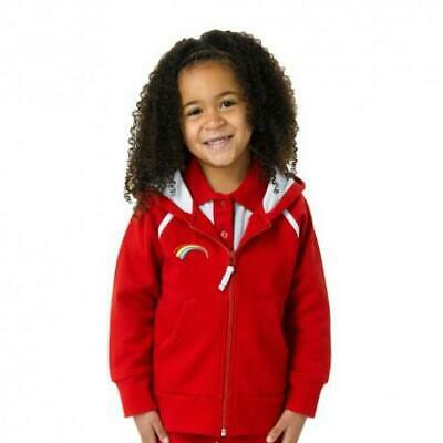 £21.99 • Buy Rainbows Section Zip Hoodie Hooded Top Girl Guiding Guides Red Official Uniform
