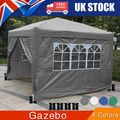 £71.99 • Buy Outdoor Heavy 3*3M Gazebo Garden Party Tent With Sides Canopy Marquee W/Windows