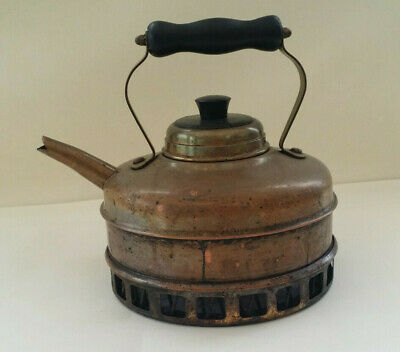 """£24.95 • Buy Gas Kettle Solid Copper Vintage Antique """"Simplex"""" Type Tinned Inside"""