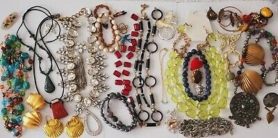 $ CDN6.28 • Buy Vintage To Mod Jewelry Parts Findings Arts Crafts  Lot Some Wear PLEASE READ B