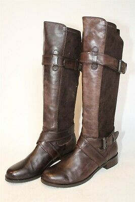 £3.98 • Buy Cole Haan Womens Size 6.5 B Leather Stretch Tall Pull On Riding Boots D36039