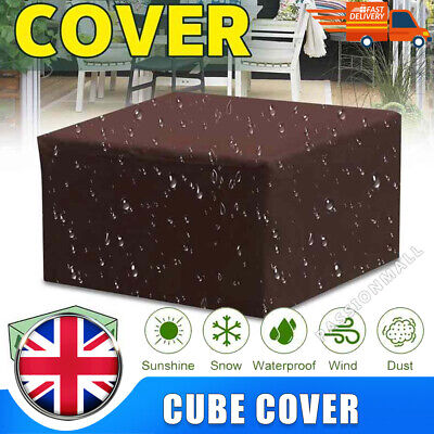 £10.99 • Buy Heavy Duty Garden Patio Furniture Table Cover For Rattan Table Cube Outdoor Set