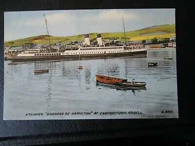 £3.99 • Buy Postcard Of Steamer  Duchess Of Hamilton  At Campbeltown, Argyll (Unposted)