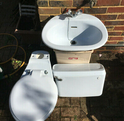 £0.99 • Buy Vintage 1970s/80s IDEAL STANDARD Retro Light/Baby Blue Toilet Cistern And Sink