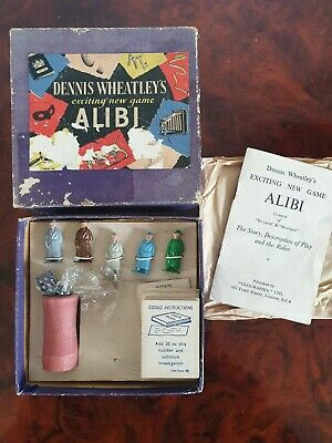 £15 • Buy Vintage Collectors Item, Dennis Wheatley's Exciting New Game, ALIBI, 1950'S RARE