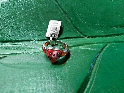 $24 • Buy Sterling Silver Ring Alan K Red Heart Millacreli Size 8 New Nwt $50 Sold Out