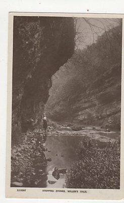 £3 • Buy Stepping Stones Millers Dale Vintage RP Postcard 288a