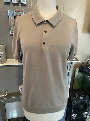 £2.29 • Buy Marks And Spencer Autograph Silk And Cotton Blend Polo Shirt Size S