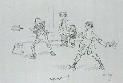 £7.99 • Buy GRACE (WC) CRICKET By PHIL MAY : Litho Print Of The Cartoon C1903
