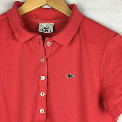 £23 • Buy LACOSTE Womens Pink Polo T-Shirt. Size L