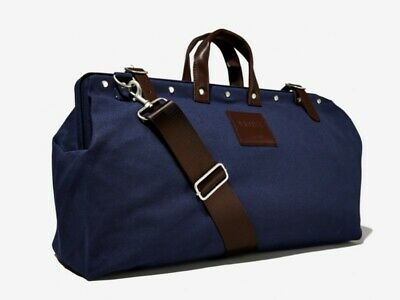 $31.32 • Buy Navy Canvas Weekender Bag Line Of Trade-  Free Shipping