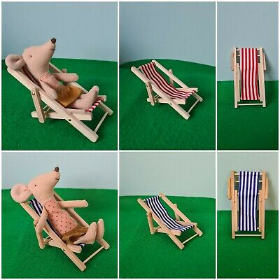 £7.90 • Buy Beach Garden Deck Summer One Chair FIT Maileg Sister Brother MOUSE NOT INCLUDED