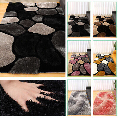 £69.95 • Buy Large Thick Soft 3d Swirl Textured Pile Pebble Stepping Stones Noble House Rugs