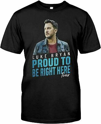 $15.99 • Buy Christmas_Gift_Apparel_Luke-Bryan_Proud_to_Be_Right_Here_Tour_Shirt