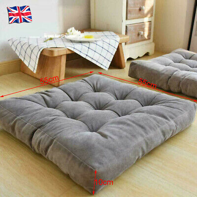 £15.99 • Buy Extra Large Floor Cushions Garden Outdoor Chair Seat Pads Luxury Multi Purpose