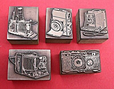 £16.50 • Buy COLLECTION OF  OLD CAMERAS  Printing Blocks. (SOLD AS ONE LOT)