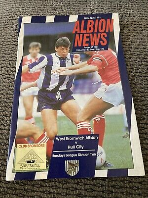 £0.95 • Buy West Brom V Hull City, 1990-91 Division Two Programme. Good Condition.