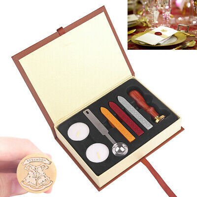 $9.99 • Buy Brass Wax Seal Stamp Set Kit For Letter Mail Invitations Cards Post Decoration