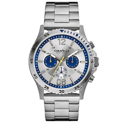 $49.81 • Buy Caravelle New York Mens Chronograph Watch 43A130