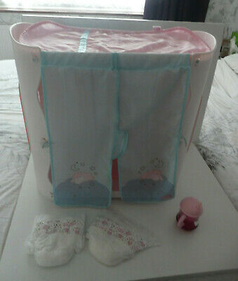 £20 • Buy BABY ANNABELL DOLL  2 In 1 WARDROBE  &  CHANGING TABLE  - HANGERS DRINKING CUP