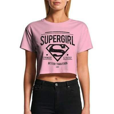 £9.99 • Buy Womens T-shirt Supergirl Stronger And Faster Pink
