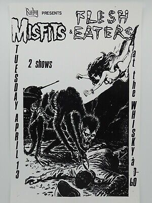 $14.95 • Buy The Misfits With Flesh Eaters The Whiskey A Go-go Vintage La Punk Concert Poster