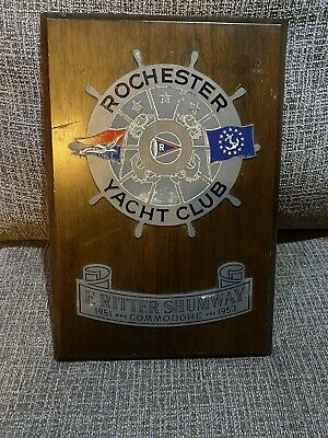 AU40.75 • Buy Vintage 1951 1953 Rochester Yacht Club Plaque Boat Ship Shumway