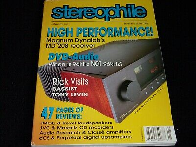 $14.30 • Buy Stereophile Magazine <>january 2001<>magnum Dynalab Md 208 Receiver