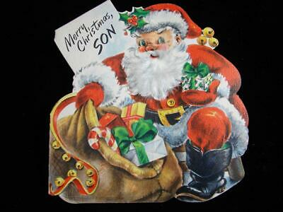 $ CDN1.25 • Buy Vintage  Merry Christmas To A Might Fine Son!!  Christmas Greeting Card