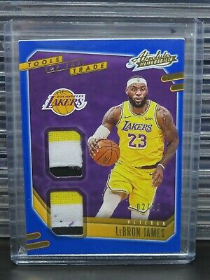 AU57.07 • Buy 2020-21 Absolute Lebron James Tools Of The Trade Dual Jersey Patch #2/25 Q877