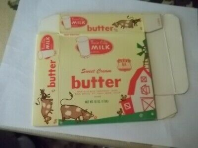 $4.99 • Buy Twin City Milk Butter Container Box 1Lb St Paul Minnesota Cows
