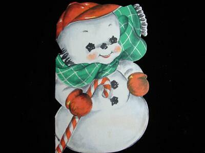 $ CDN1.25 • Buy Vintage  Roly-poly Snowman Has A Message!!  Christmas Greeting Card