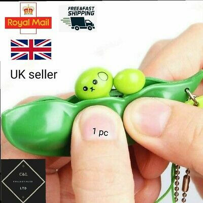 £1.75 • Buy Stress Toy Pod Fidget Pea Keyring Bean Relief Soy Anxiety Autism Anti Tool Squee
