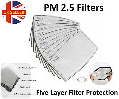 £2.26 • Buy PM2.5 Filter For Adult Washable Reusable Face Mask With Activated Carbon