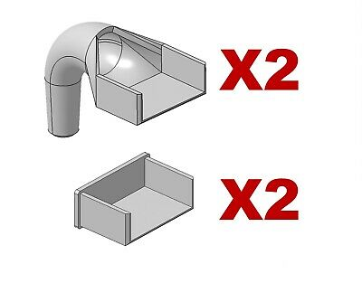£11.80 • Buy Greenhouse 32mm X 12mm Gutter Outlets & Blank End