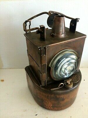£116.79 • Buy Lms Copper Railway Signal Lamp Ribbed Lens Plated Petroleum Only 1930