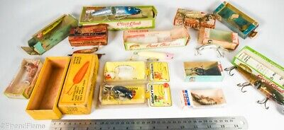 $ CDN5.98 • Buy Vintage Giant Miscellaneous Group D Minnow Antique Fishing Lures WH7