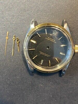 $ CDN787.48 • Buy Rolex Used Vintage 1003 Case, Gilt Dial Hands 18k Solid Gold & Stainless Steel