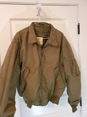 $70 • Buy Military Surplus Olive Jacket Cold Weather High Temperature Resistant Size XL-R