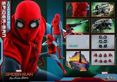 $ CDN301.21 • Buy Hot Toys MMS 552 Spider-Man Far From Home (Homemade Suit Version) Peter Parker