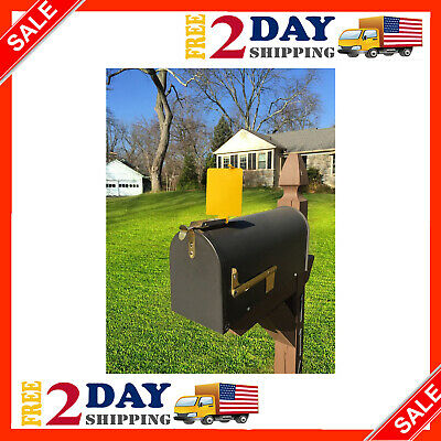 $25.99 • Buy Mail Time! ® Yellow Mailbox Alert Signal Flag For Long Rural Driveways