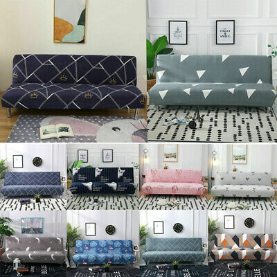 AU24.90 • Buy Armless Sofa Printed Cover Futon Slipcover Stretch Couch Bed Furniture Protector