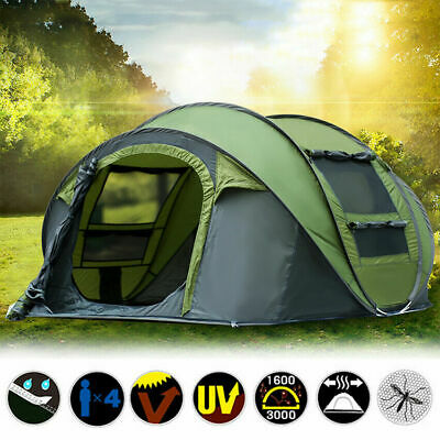 £99.99 • Buy 3~4 Person Waterproof Camping Tent Automatic Pop Up Quick Shelter Outdoor Hiking