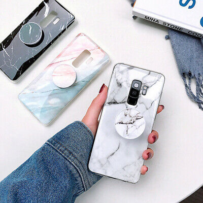 AU9.99 • Buy Samsung S10 S8 S9 S7 Marble Cover Shockproof Silicone Phone Case With Holder