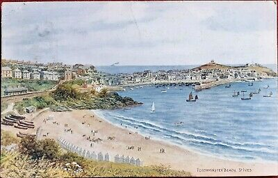 £1.95 • Buy 1925 COLOUR PC PORTHMINSTER BEACH, St.IVES, From PAINTING By A.R.QUINTON, POSTED