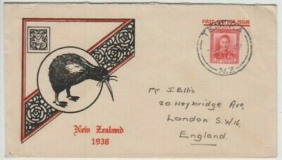 AU18 • Buy Stamp 1938 New Zealand 1d Red KGV1 Issue On Official FDC TEMUKA Postmark
