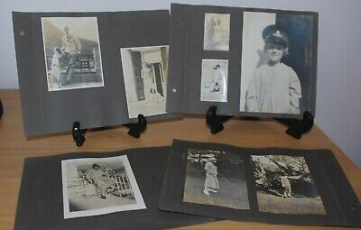 £18.50 • Buy Lot Of 8 Album Pages With 60+ Photos – People Horses Dogs Cairo Egypt 1920s